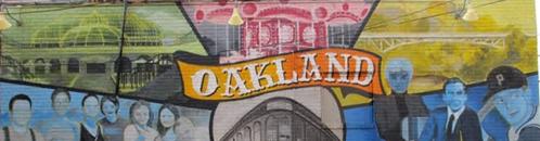 Oakland Mural on Sorrento's Pizza